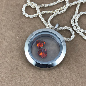 Gem Empourium Jewelry - Two Hearts In a Locket & 24 inch 925 Silver Chain